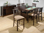 Bakery's Cherry Counter Height 7 Piece Dining Set with Slat Back Counter Height Stools