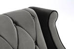 Barrister Chair (Gray Velvet) - [LC8441GRAY] 1