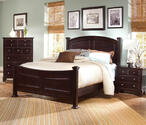 Hamilton Franklin Panel Bed (Merlot Finish)