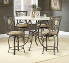 Brookside Counter Height Dining Set with Oval Back Stools (Brown Powder Coat Finish)