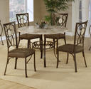 Brookside Round Dining Table (Brown Powder Finish)