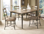 Charleston Rectangle Dining Set with Ladder Back Chairs (Desert Tan Finish)