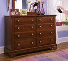 Cottage Collection Double Dresser (Cherry Finish)