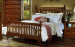 Cottage Collection Slat Poster Bed (Cherry Finish)