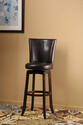 Copenhagen Swivel Bar Stool (Expresso & Brown Finish)