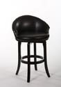 Dartford Swivel Bar Stool (Dark Brown Cherry Finish)