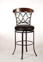 Dundee Swivel Bar Stool (Dark Coffee Finish)