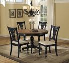 Embassy Round Pedestal Dining Table (Rubbed Black & Cherry Finish)