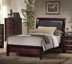 Emily Sleigh Bed (Rich Espresso Finish)