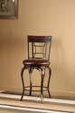 Granada Swivel Bar Stool (Dark Chestut & Brown Finish)