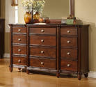 Hamilton Dresser (Dark Cherry Finish)