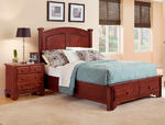 Hamilton Franklin Storage Panel Bed (Cherry Finish)