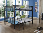 Heavy Metal Full Over Full Bunk Bed (Black)