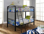 Heavy Metal Twin Over Twin Bunk Bed (Black)