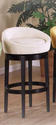 Igloo Swivel Barstool (Cream Microfiber)