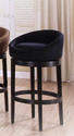 Igloo Swivel Counter Stool (Black Microfiber)