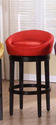 Igloo Swivel Counter Stool (Red Microfiber)