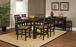 Killarney Seven Piece Counter Height Dining Set (Black & Antique Brown)
