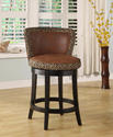 Lisbon Swivel Counter Stool (Leopard Print)