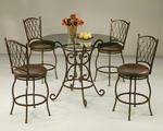 Magnolia Gathering Table Set (Autumn Rust & Glass Finish)
