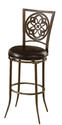 Marsala Swivel Bar Stool (Gray & Rust Highlights with Black Vinyl)