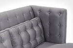 Noho Loveseat (Silver Satin Fabric) - [LC10062SIL] 3
