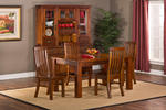 Outback 5 Pieces Dining Set (Distressed Chestnut Finish)