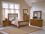 Outback Slat Bedroom Set (Distressed Chestnut Finish)