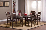 Park Avenue Seven Piece Dining Set (Dark Cherry with Brown Vinyl)