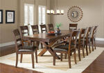 Park Avenue Trestle Dining Table (Dark Cherry Finish) - [4692DTB] 2