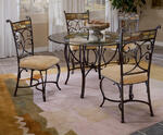Pompei Dining Table (Black Gold & Slate Mosaic Finish)