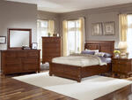 Reflections Sleigh Storage Bedroom Set (Medium Cherry Finish)