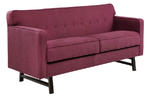 Roger Loveseat (Claret Purple Fabric)