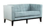 Roxbury Tufted Loveseat (Spa Blue)