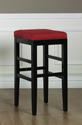 Sonata Counter Stool (Red Microfiber)
