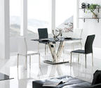 Vengo Dining Table (Black & Stainless)