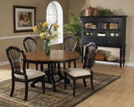 Wilshire Round Dining Set (Rubbed Black Finish)