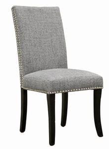Accent Nail Side Chair - Set Of 2 (Dark Gray) - [LCDESICH]