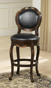 Alaina Swivel Counter Stool (Distressed Cherry & Copper Highlights Finish) - [63369]