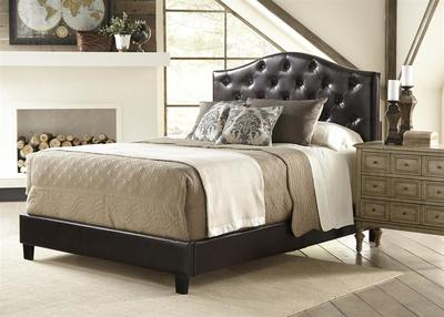 All-N-One Fully Upholstered Tuft Queen Bed (Brown) - [DS-1929-290]