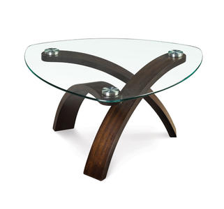 Allure Pie Shaped Cocktail Table (Hazelnut)