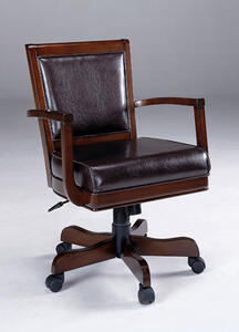 Ambassador Caster Game & Office Chair (Rich Cherry Finish) - [6124-801]