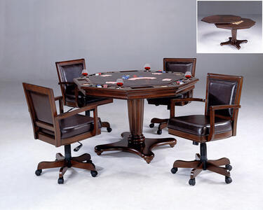 Ambassador Game Table Set (Rich Cherry Finish) - [6124GTBC]