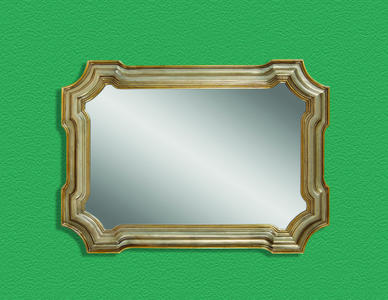 Angelica Wall Mirror (Silver & Gold Finish) - [M2804EC]