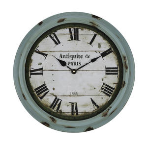 Anthea Clock (Aged Sea Green with Brown Distressing) - 17