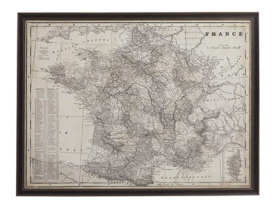 Antique Map of France (Canvas) - 44 x 62h - [9900-347EC]