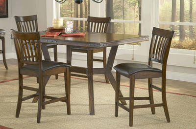 Arbor Hill Counter Height Dining Set (Colonial Chestnut Finish) - [4232GTBS]