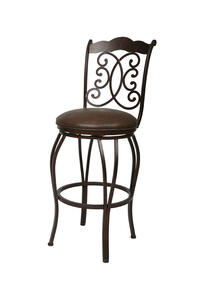 Athena II Swivel Counter Stool (Autumn Rust & Florentine Coffee Finish) - [AH-225-26-AR-649]