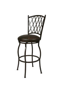Atrium Swivel Counter Stool (Autumn Rust & Florentine Coffee Finish) - [AT-225-26-AR-649]