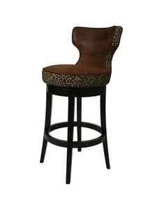 Augusta Counter Stool (Feher Black & Wrangler with Leopard Finish) - [AE-225-26-FB-970]